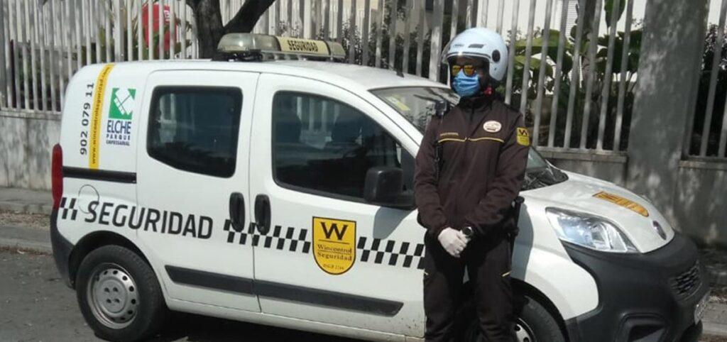 Personal de seguridad en polígono